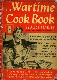 cookbook old wartime