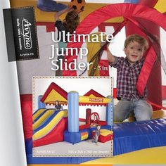 Yes, another one - the Ultimate Jump Slider 3in1 Let's Jump and Play  Share the Fun ➡➡ #Avyna #Inflatable #inflatables #bouncycastle #springkussens #jumping #luchtkasteel #luchtkastelen #bouncyhouse #trampoline #trampolines #funtramp #instakids #speelgoed #spelen - Meer info www.trampoline.nl #Jumpfree #trampolinefun #funtramp #jumpingaround