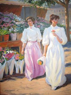 Gregory Frank Harris  Morning Flower Market