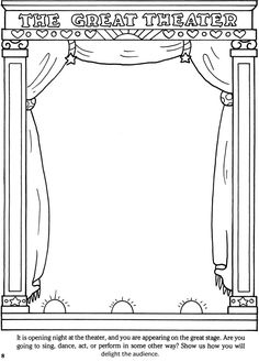 Welcome to Dover Publications - Create Your Own Pictures Coloring Book: 45 Fun-to-Finish Illustrations Dance Coloring Pages, Colouring Pages, Coloring Books, Dance Crafts, Ballet Crafts, Create Your Own Picture, Doodle Pages, Art Worksheets, Home Learning