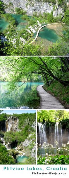 Plitvice Lakes, Croatia. Quite possibly the most beautiful place on earth -- Add it to your bucket list!