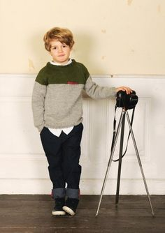 #knit #pattern for kids from Sandnes garn - Carlos sweater