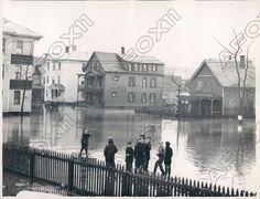 1936 Worcester Massachusetts Webster Square Homes During Flood Press Photo