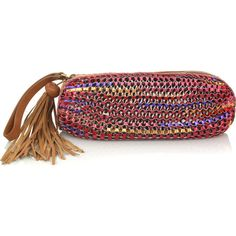 Diane von Furstenberg Stephanie woven leather clutch ($435) ❤ liked on Polyvore featuring bags, handbags, clutches, purses, bolsas and accessories