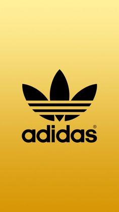 [ゴールド]アディダスロゴ/adidas Logo2iPhone壁紙 iPhone 5/5S 6/6S PLUS SE Wallpaper Background