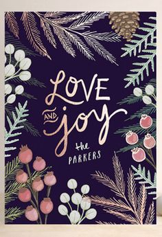 'Love & Joy' card