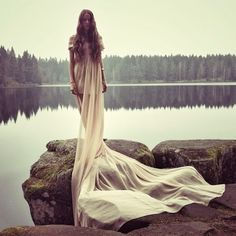 When he looked back, the swan was gone, and in its place was a beautiful maiden...