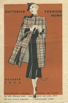 Butterick Fashion News pattern Booklet October 1936 in PDF in 2020 1930s Fashion, Young Fashion, Fashion News, Vintage Fashion, Fashion Fashion, Woman Fashion, Edwardian Fashion, Fashion Black, Fashion Lookbook