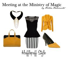 Ministry Meeting - Hufflepuff by eva-gabrielle-thompson on Polyvore featuring polyvore, fashion, style, Miso, Office, Golden Goose, Zelia Horsley and clothing