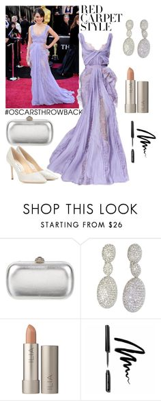 """Mila Kunis Oscars"" by lavandel ❤ liked on Polyvore featuring Elie Saab, Gucci, Ilia, Bobbi Brown Cosmetics, Jimmy Choo, redcarpetstyle and OscarsThrowback"