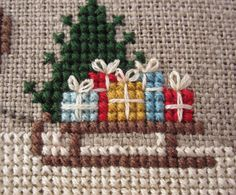Here Comes Santa Claus Cross Stitch Pattern by blackphoebedesigns