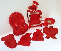 Red Lil Chef Kitchen Spoon Rests Holder Measuring Spoon Drip Pan