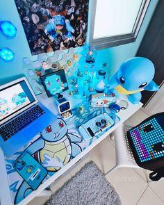 Pc Gaming Setup, Gaming Station, Supreme Wallpaper, Game Room Design, Gamer Room, New Pokemon, Room Setup, Presents, Games