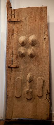 DOGON BREASTED GRANARY DOOR, MALI – MBAbramGalleries