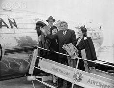 Babe Ruth and Family Boarding Plane 1946