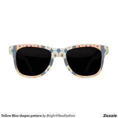 Yellow Blue shapes pattern Sunglasses