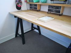 Make a desk yourself; With these tips you can quickly create your own desk - New Deko Sites Laura Lee, Home Office, Office Desk, Art Studio Room, Study Inspiration, New Room, Home Improvement Projects, Drafting Desk, Kids And Parenting