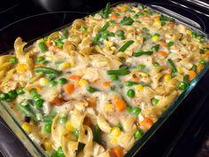 Chicken Noodles and Veggies.