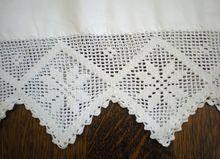 Vintage Pair Pillow Cases -    Wide Crochet Trim -    This is a lovely pair of vintage pillow cases with a 5 1/2 inch wide decorative crochet lace trim.  $80.00