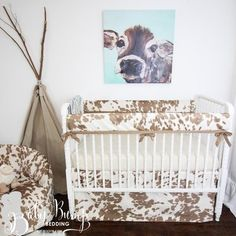 Tan Cowhide Gender Neutral Crib Bedding Set - Best Picture For baby pics For Your Taste You are looking for something, and it is going to tell -
