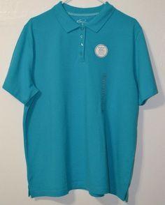 NWT Women's Kim Rogers Large Turquoise Polo Shirt Short Sleeve Collar Size XL #KimRogers #PoloShirt #Casual