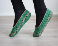 Women socks, Handmade Slippers, Turkish Knitted slippers, Authentic footwear, Stylish foot wear, green slippers, $15