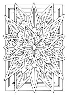 Coloring page mandala - star - coloring picture mandala - star. Free coloring sheets to print and download. Images for schools and education - teaching materials. Img 21906.