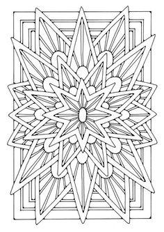 Coloring page mandala - star -