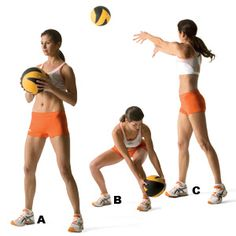 Did these with my trainer. Love them. Use a 16 lb ball though, not 5 lbs like the article suggests.