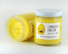 Lemongrab candle