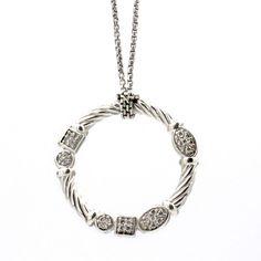 "David Yurman Confetti Diamond Necklace in Sterling Silver 16"" #DavidYurman #Pendant"