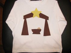 Christmas shirt with Nativity applique by NanasCraftyCreations, $17.50