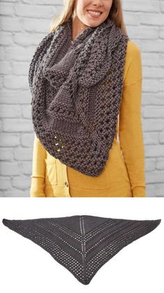 Easy And Free Triangle Shawl Knitting Pattern Beginner Lace ~ einfache und kostenlose dreieck-schal strickmuster anfänger spitze ~ modèle de tricot châle triangle facile et gratuit dentelle débutant Baby Mittens Knitting Pattern, Free Knit Shawl Patterns, Easy Knitting, Knitting Yarn, Sweater Patterns, Crochet Pattern, Stitch Patterns, Knitted Shawls, Knitting Projects