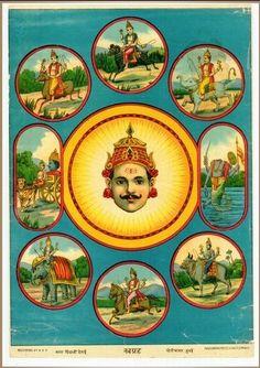 bombayelectric:  Navagrahas by Ravi Varma Press