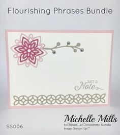 Michelle Mills - Ind. Stampin' Up! Demonstrator Australia. FB: Hello Day Cards