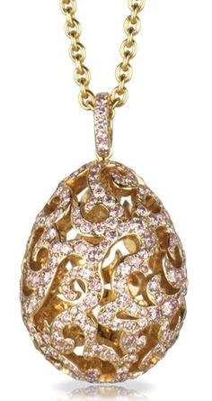 Faberge Gold Pendant Necklace #Faberge #VintageJewelry