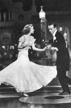 "Fred Astaire and Ginger Rogers in ""Top Hat"". Pure class..."