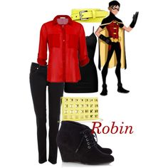"""Robin - Young Justice"" by teamrocketme on Polyvore"