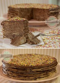 Tarta de obleas y Nutella Sweets Cake, Cupcake Cakes, Sweet Desserts, Sweet Recipes, Dulce Candy, Nutella Crepes, Crepe Cake, Delicious Deserts, Pastry Cake