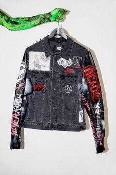 Image of ONE OFF crust punk gang denim jacket