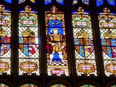 Henry VIII window detail at Hampton Court Palace