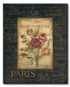 POl_061_Bel Bouquet III / Cuadro Vintage, Flores de Paris