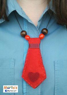 felt tie necklace