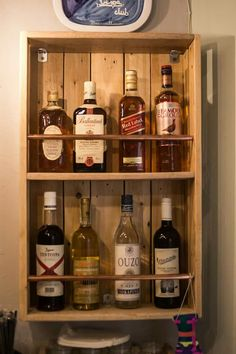 Wood wall mini bar from pallet