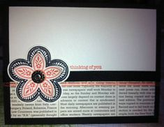 100.45 Coral CAS Flower by LancasterLurker - Cards and Paper Crafts at Splitcoaststampers