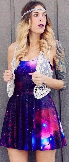 Cheap Black Milk Dress Galaxy Purple Reversible Skater Black Milk Dress