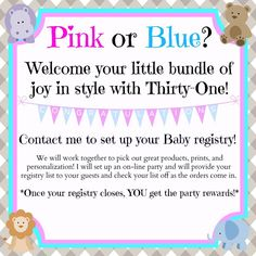 bird seed baby shower favor pink or blue welcome your little bundle of joy in style with thirtyone