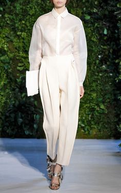 Front Pleat Pant by DELPOZO for Preorder on Moda Operandi