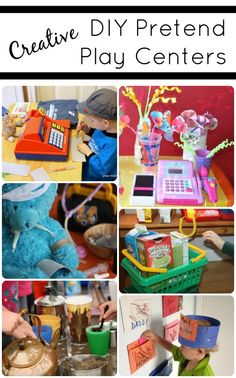 Creative DIY Pretend Play Centers...fun ideas for preschool classrooms and home