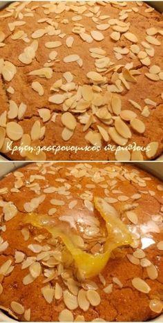 Σιροπιαστή ταχινόπιτα με σιμιγδάλι (αλάδωτη) - cretangastronomy.gr Crockpot, Cereal, Chicken, Meat, Breakfast, Food, Cakes, Beef, Morning Coffee